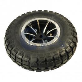 """Komplet 6"""" forhjul med sort dæk"""
