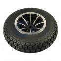 """Komplet 6"""" Baghjul med sort dæk 4,10-3,50-6"""""""