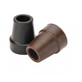 Gummi dupsko 14mm med stål indlæg sort