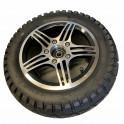 """Komplet 8"""" forhjul med sort dæk"""