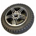 """Komplet 8"""" baghjul med sort dæk"""